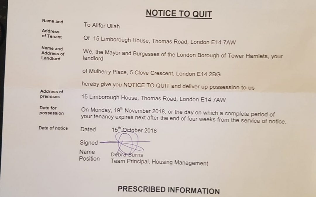 Tenant Eviction Successfully Overturned: A Story of the Community in Mile End and Beyond Coming Together for Each Other