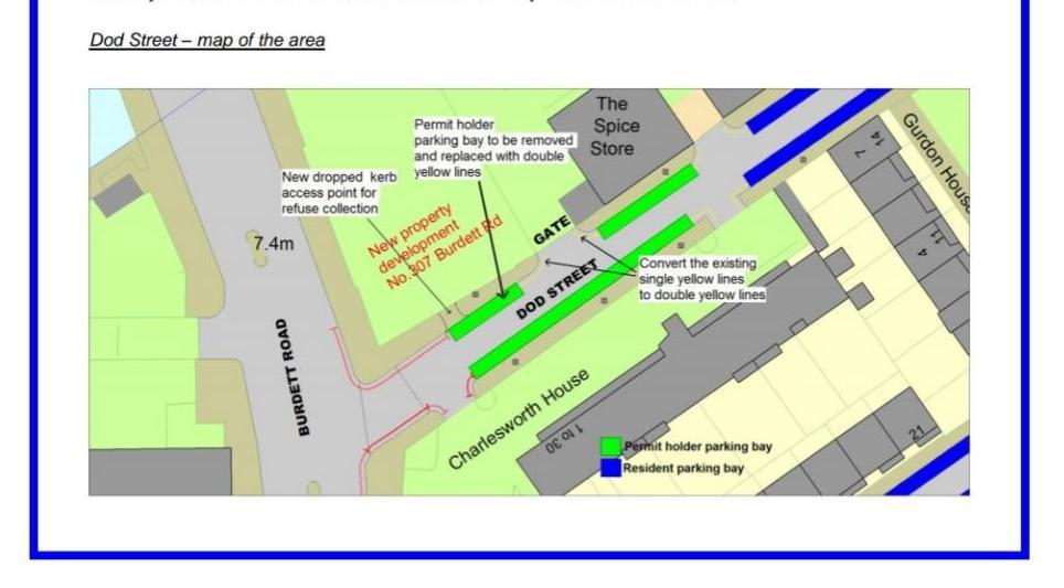 Update: Dodd Street Resident Parking Bays